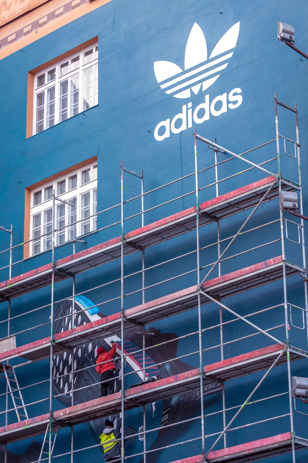 Adidas Originals logo on a mural in Warsaw NMD sneakers premiere | Polish premiere of NMD adidas Originals | Portfolio
