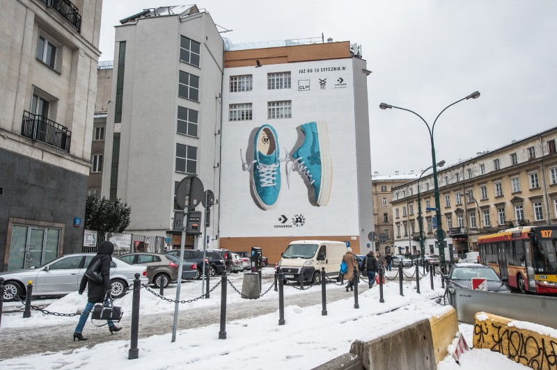 9. Advertising mural on bracka 25 street in warsaw śródmieście for converse | GOLF le FLEUR* x CONVERSE | Portfolio