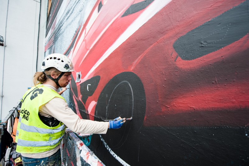 A Mercedes AMG advertisement painted in the form of a mural | Mercedes AMG | Portfolio
