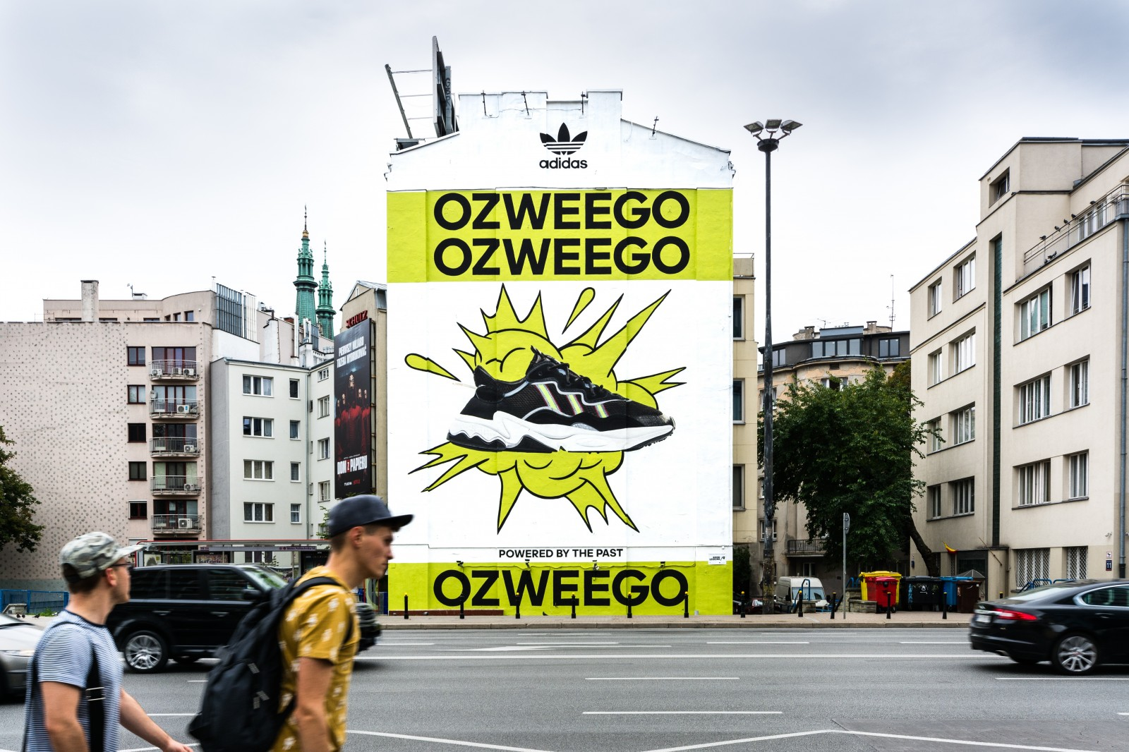 A mural advertising Ozweego for the Adidas Originals brand in Warsaw | Adidas Ozweego | Portfolio