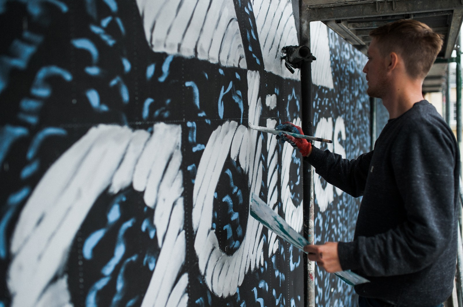 Advertisement in the form of a mural in warsaw | Adidas Parley | Portfolio