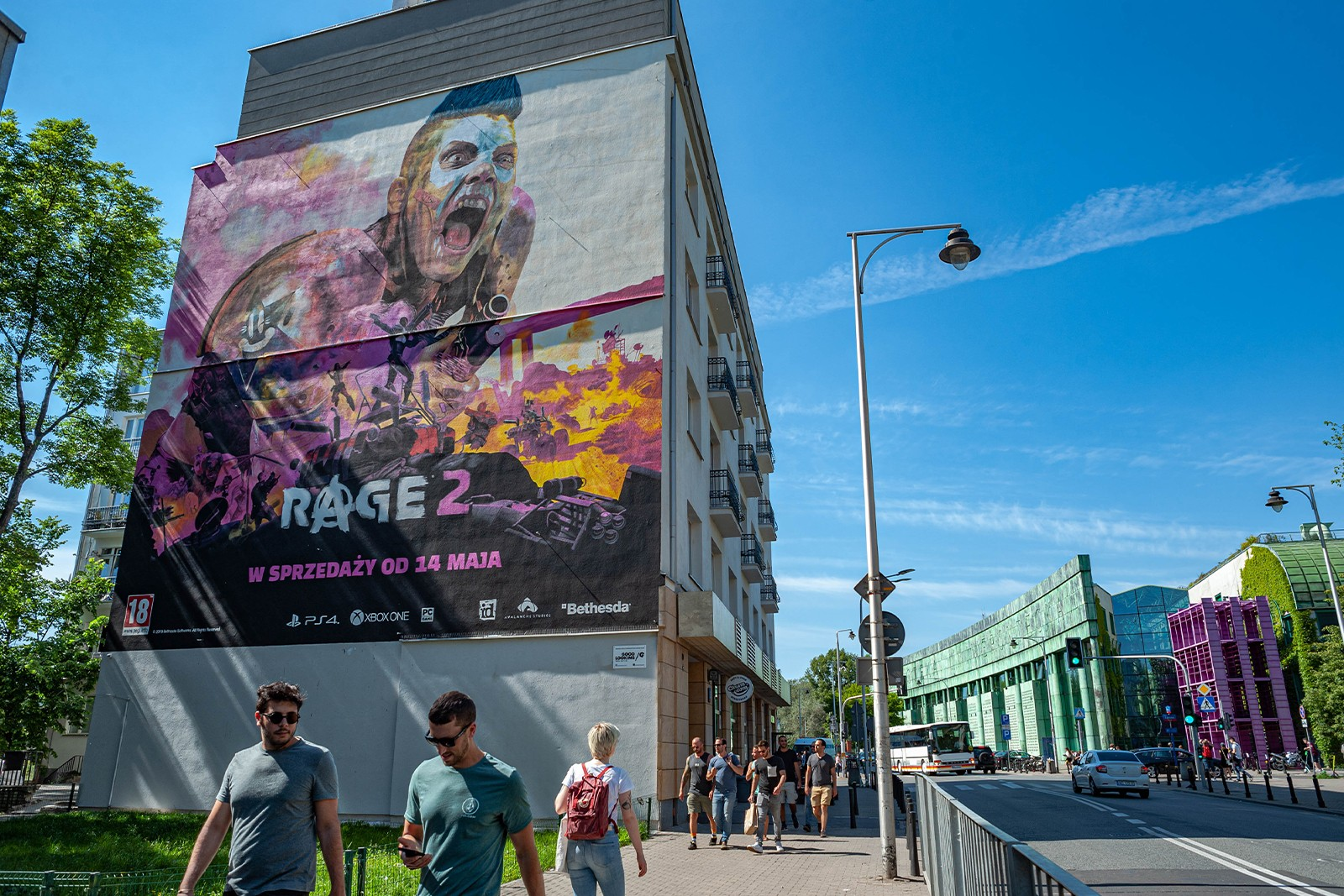 Advertising mural Rage 2nd Dobra 53 street in Warsaw | Rage 2 | Portfolio