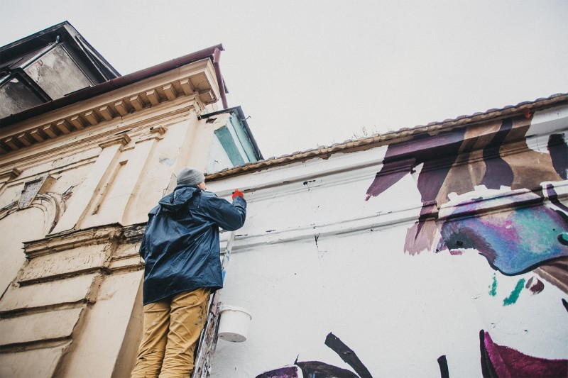 Advertising mural of game Rage 2nd in Krakow | Rage 2 | Portfolio