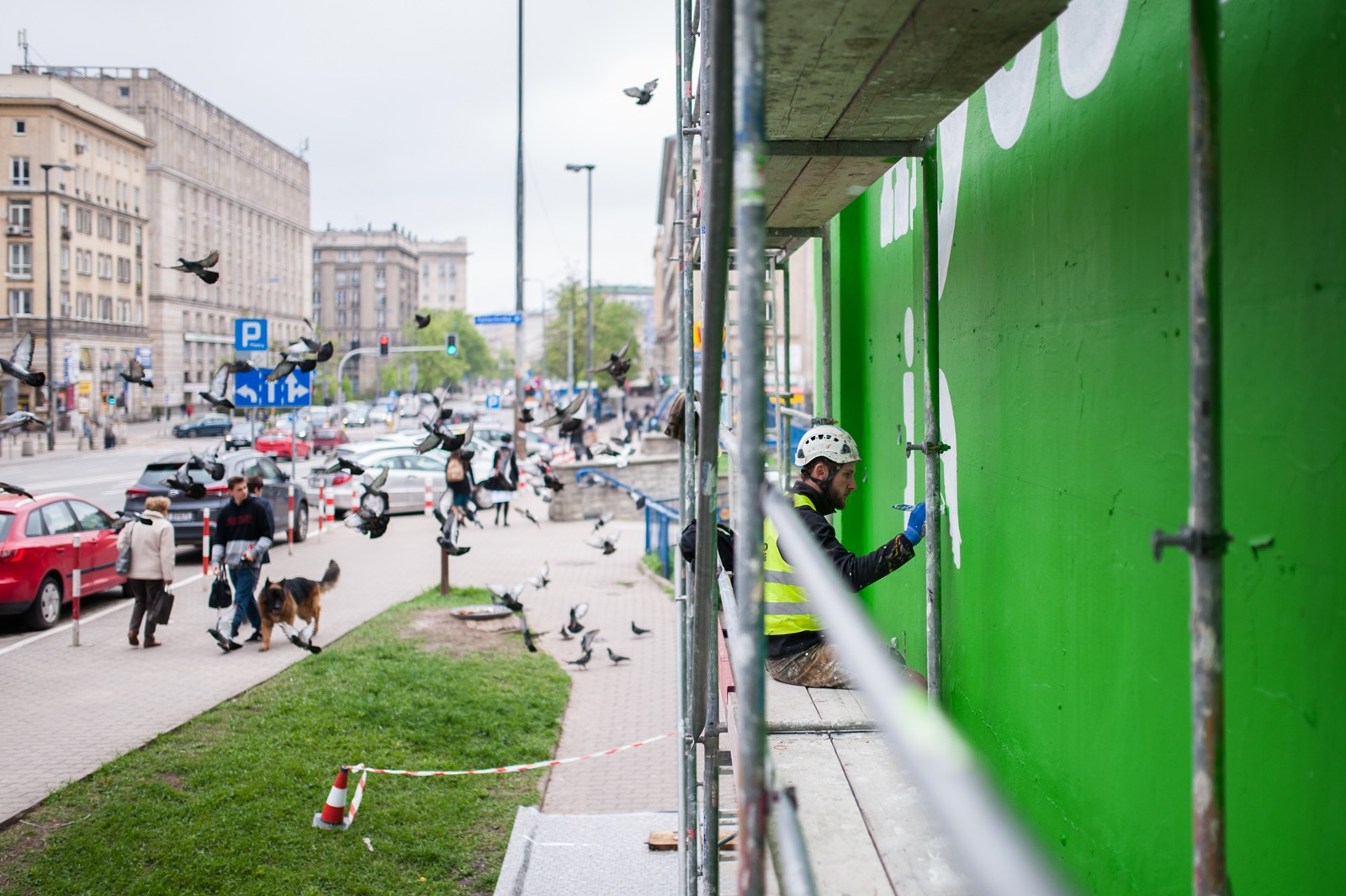 Advertising mural painted for Ben&Jerry's brand next to Metro Politechnika station in Warsaw | Ben & Jerry's | Portfolio