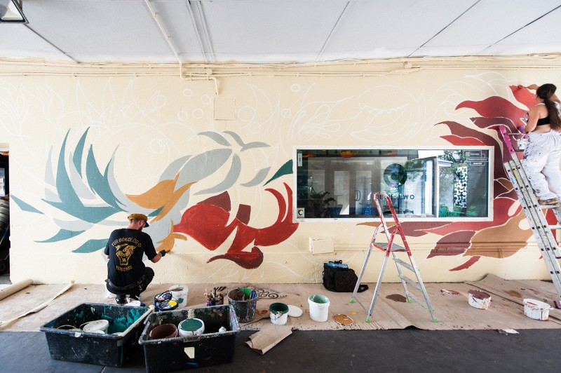 Artistic painting of a mural at Warsaw's pavilions by Swanski for a Sprite campaign | #RFRSH_CITY | Portfolio