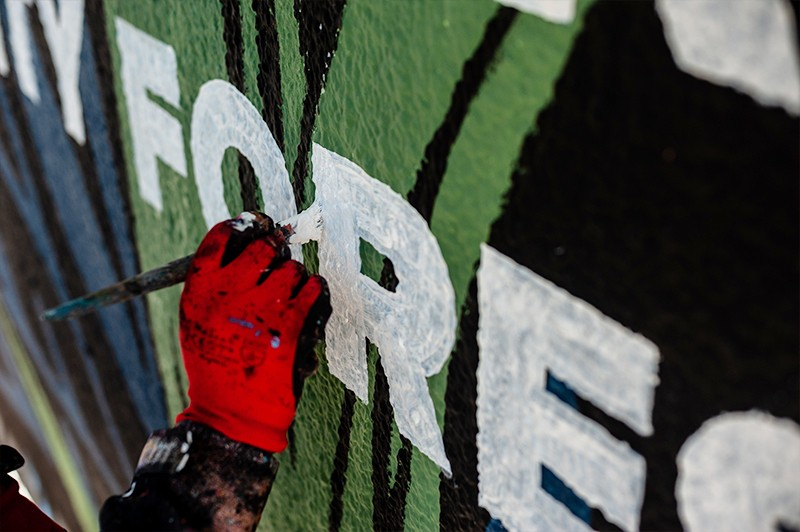 Artistic advertising mural for Converse | CREATE TOGETHER FOR TOMORROW | Portfolio
