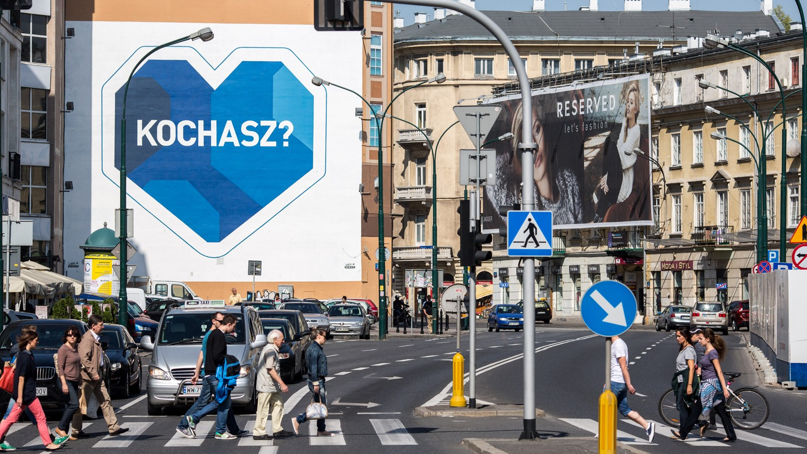 Bracka street Department Store Bracia Jablkowscy PZU mural Do you love | Stop roadhogs | Portfolio