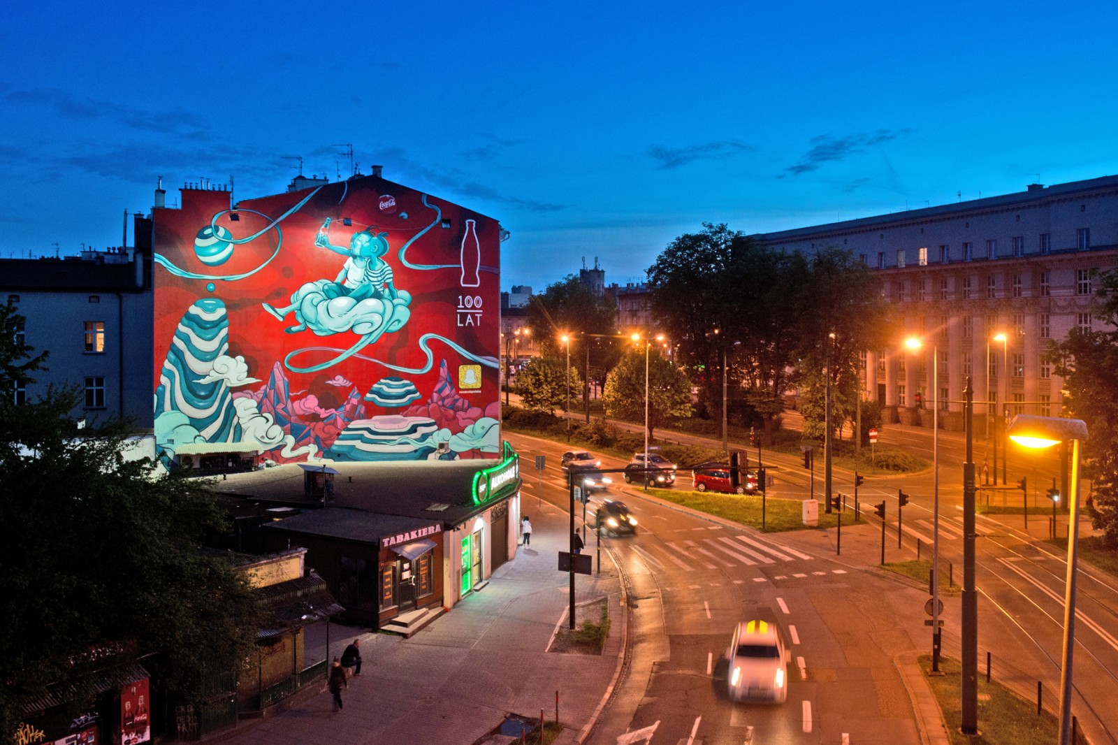 Coca Cola Poland mural in Cracow 100th anniversary of First Kiss | 100 years of Coca-Cola | Portfolio