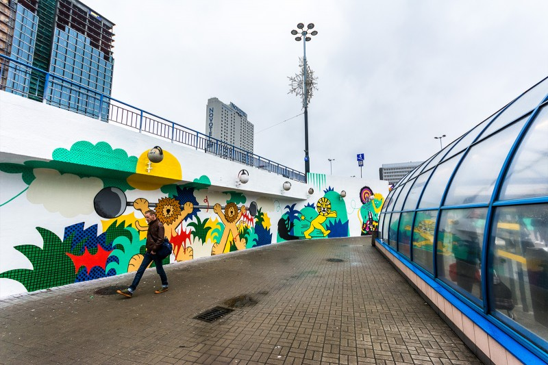 Part of Imagination Day promotional mural in Warsaw | Imagination Day Cannes Lions | Portfolio