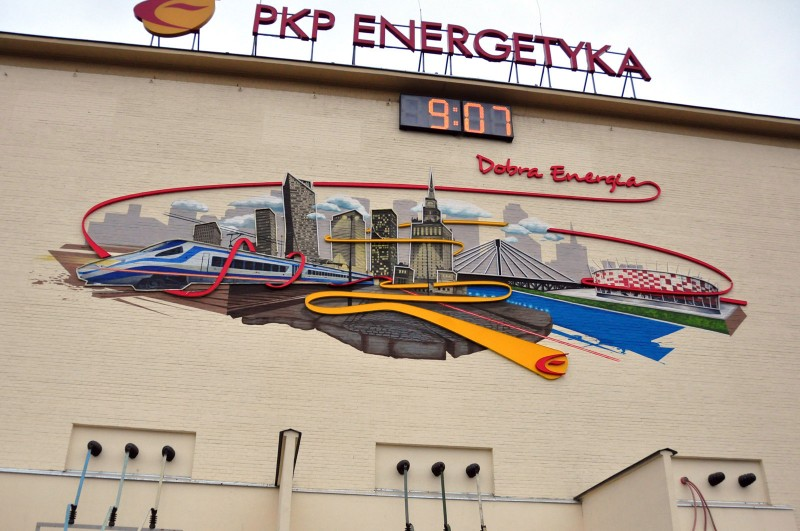 Good Energy painting on the wall for PKP Energetyka S.A. in Warsaw | Good energy | Portfolio