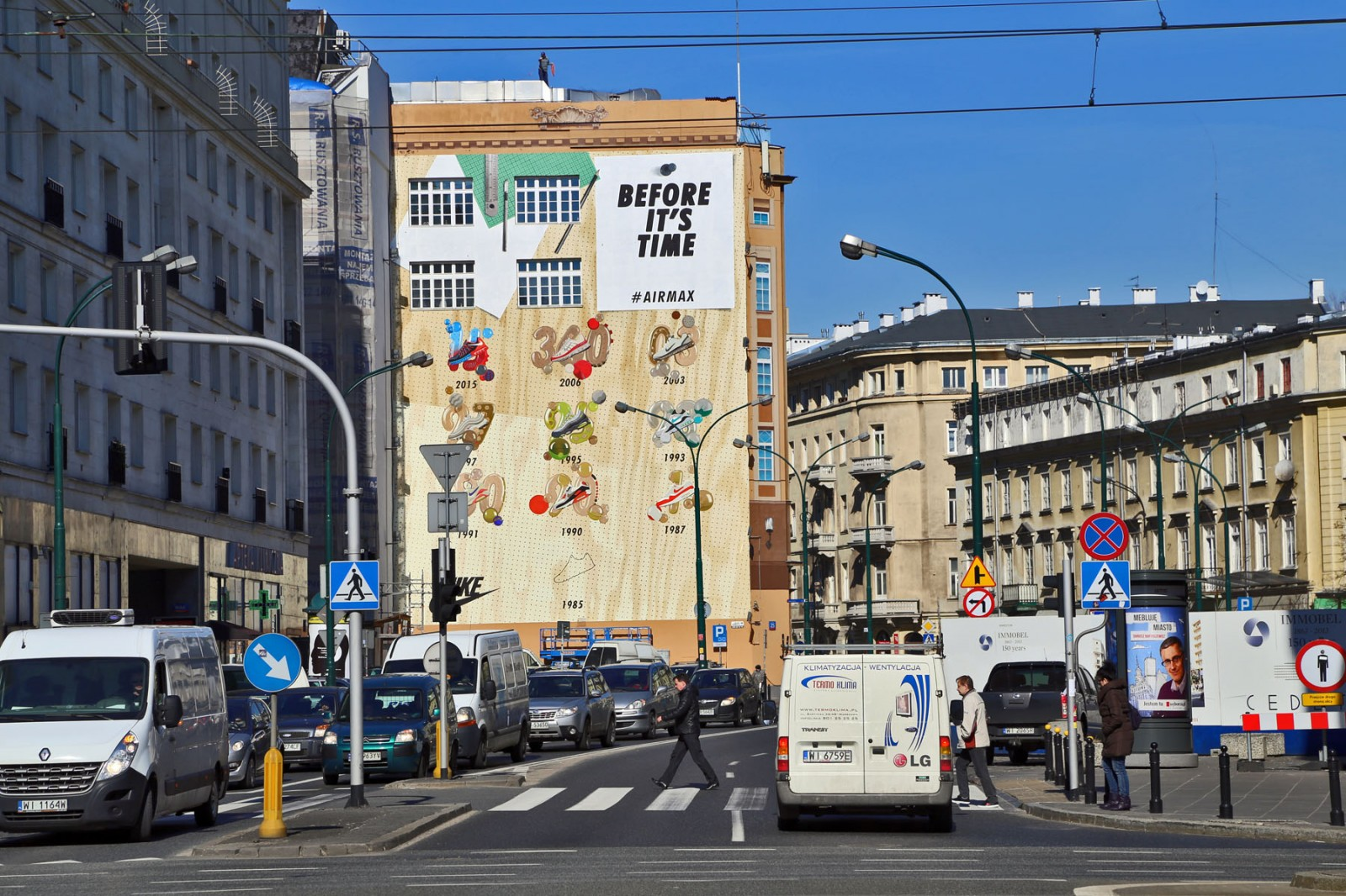 Department Store Bracia Jablkowscy in Warsaw Mural Nike Before It's Time | Airmax Day | Portfolio