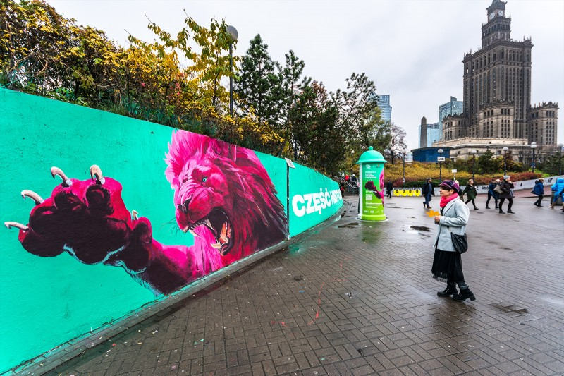 Part of promiotional mural of Imagination Day festival at Patelnia in Warsaw | Imagination Day Cannes Lions | Portfolio