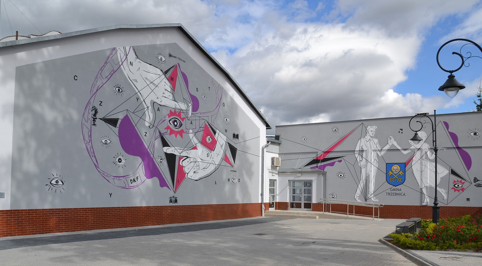 Trzebnica District mural on the wall | Community mural | Portfolio