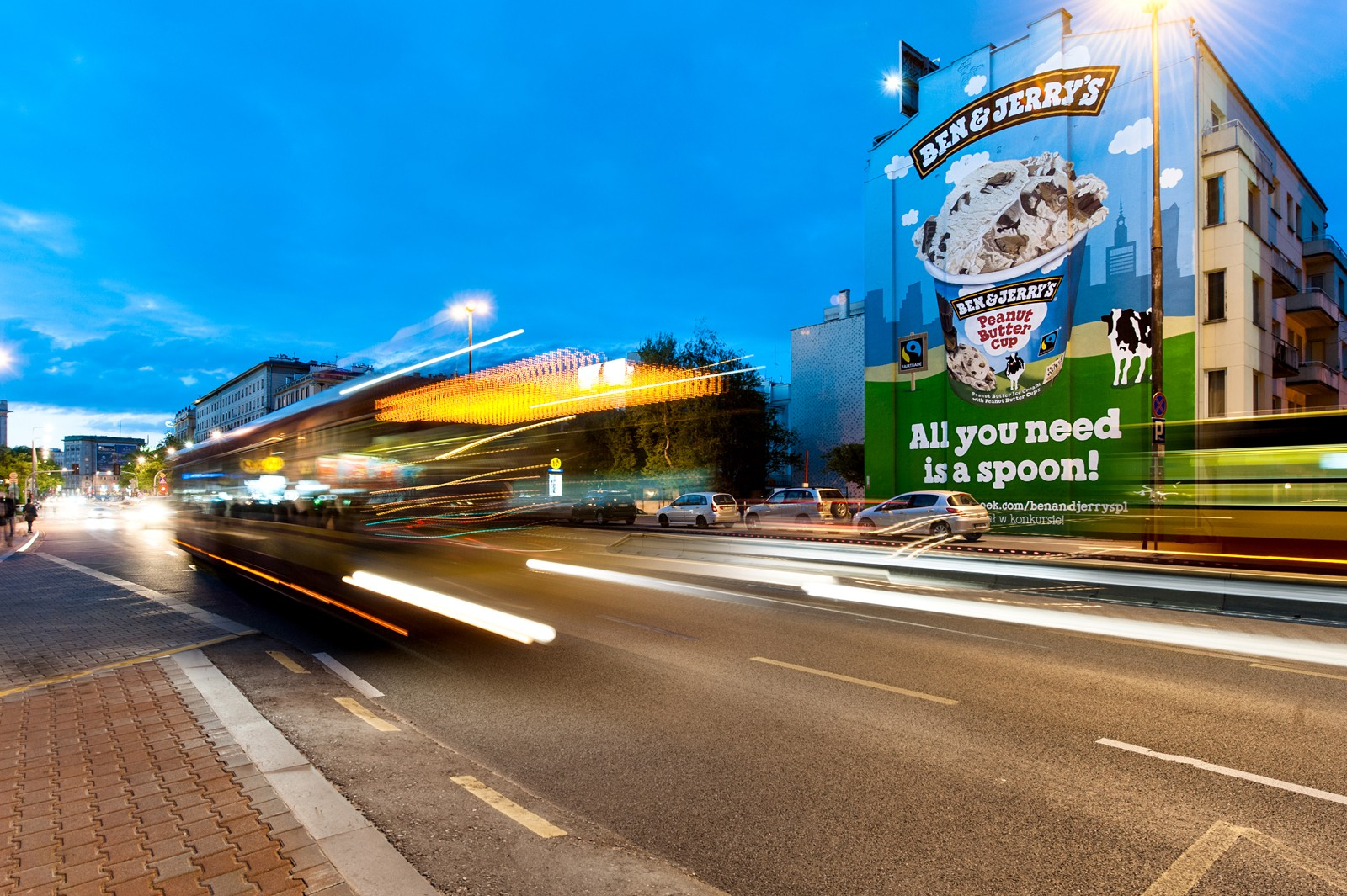 Ben&Jerry's advertising campaign in a mural form on a wall located on Jaworzynska street in Warsaw | Ben & Jerry's | Portfolio
