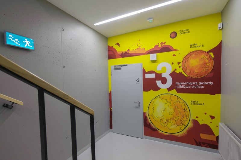 A staircase in Proximo office building painted by polish artists | PROXIMO | Portfolio