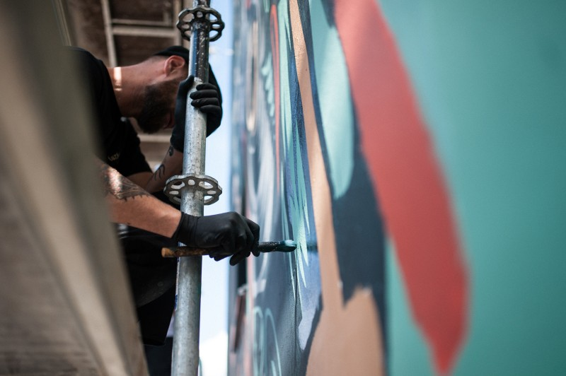 Artistic painting on walls at Warsaw's pavilions for Sprite | #RFRSH_CITY | Portfolio