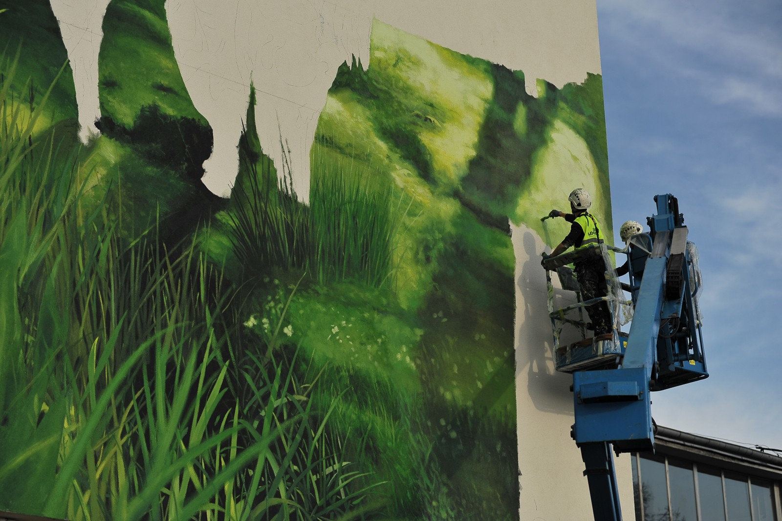 Mural painted next to a Polmos factory in Bialystok a manufacturer of Zubrowka brand vodka | Zubrowka | Portfolio