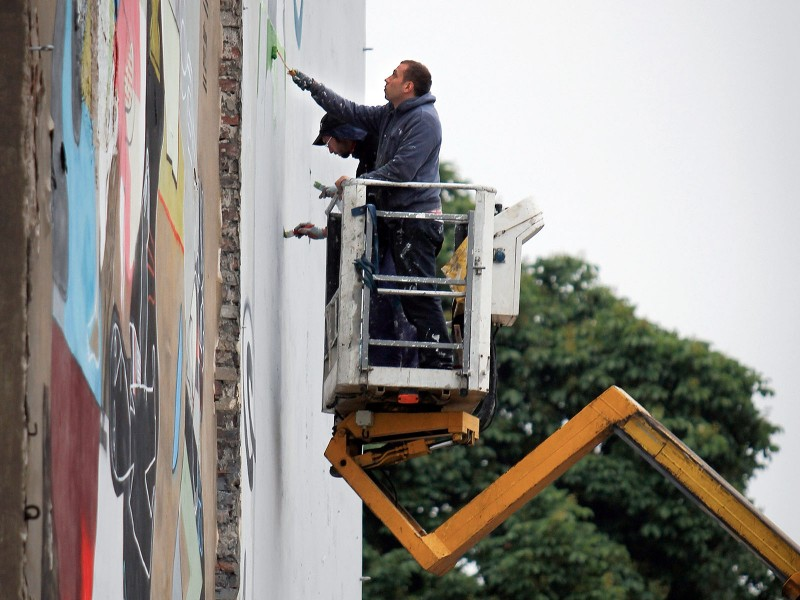 Painting Frugo advertisement - Cracow Karmelicka street | Fruit of culture | Portfolio