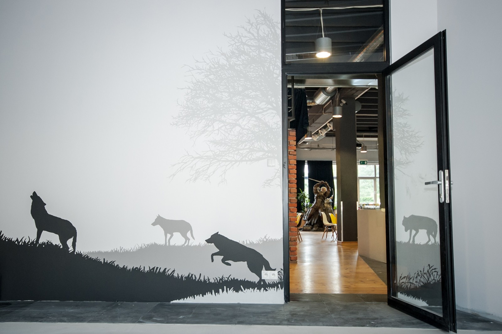 Wall painting with The Witcher game motives in Warsaw | The Witcher | Portfolio