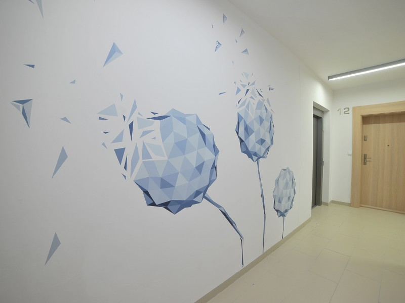 Mural inside the building in Warsaw Residential Nowe Zamienie | Residential Nowe Zamienie | Portfolio