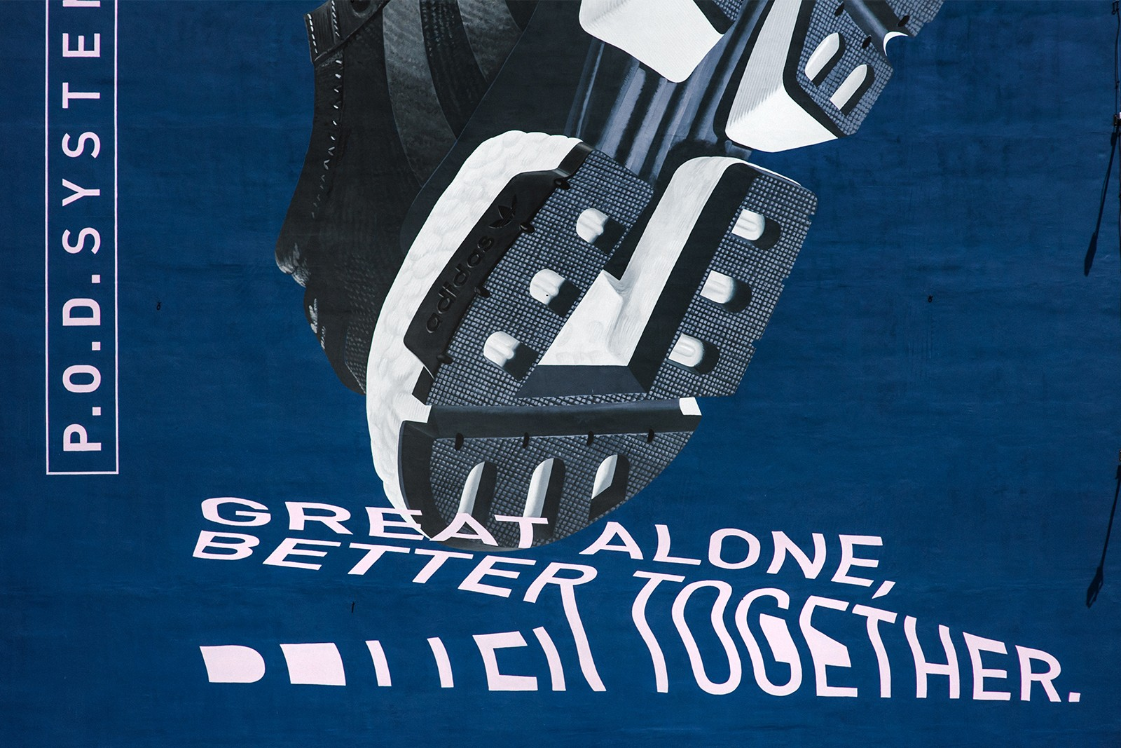 Mural Adidas Great alone better together Bracka.jpg | Adidas P.O.D SYSTEM | Portfolio
