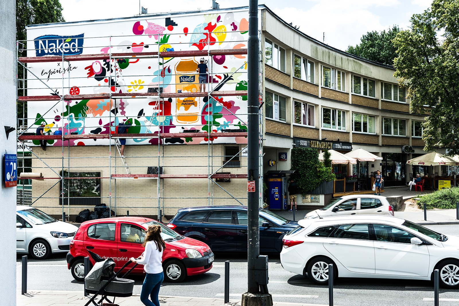 Mural Power Full City przy ulicy Francuskie 49 dla marki Naked | #PowerFullCity | Portfolio