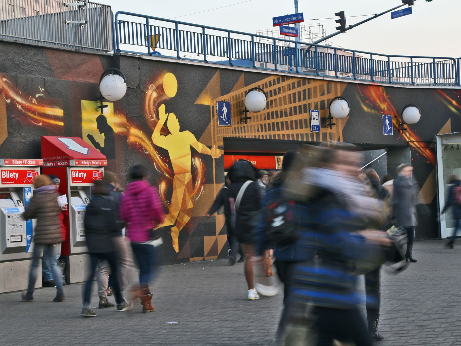 Amazing mural for PGE We provide energy - Warsaw Centrum subway station | We provide energy | Portfolio