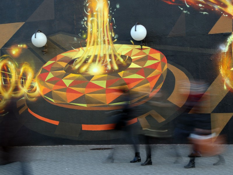 Artistic mural PGE We provide energy - Centrum subway station in Warsaw | We provide energy | Portfolio