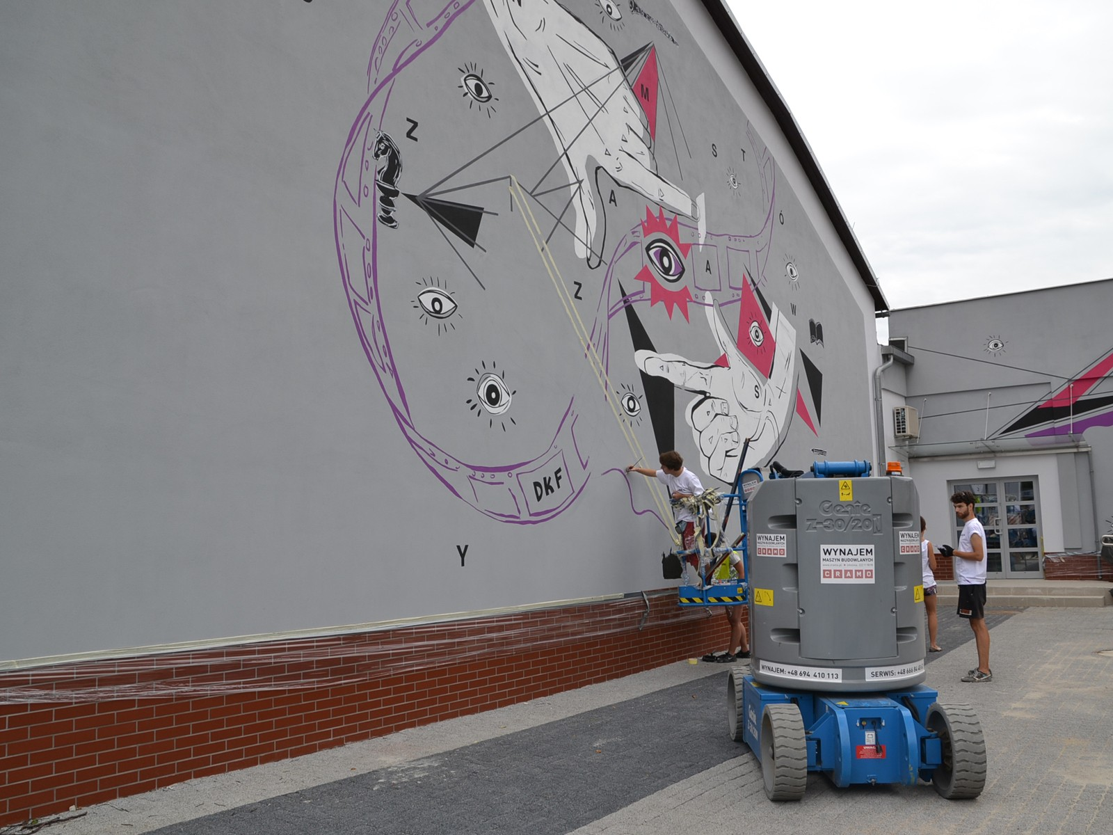 Artistic creation on the District Department wall in Trzebnica | Community mural | Portfolio