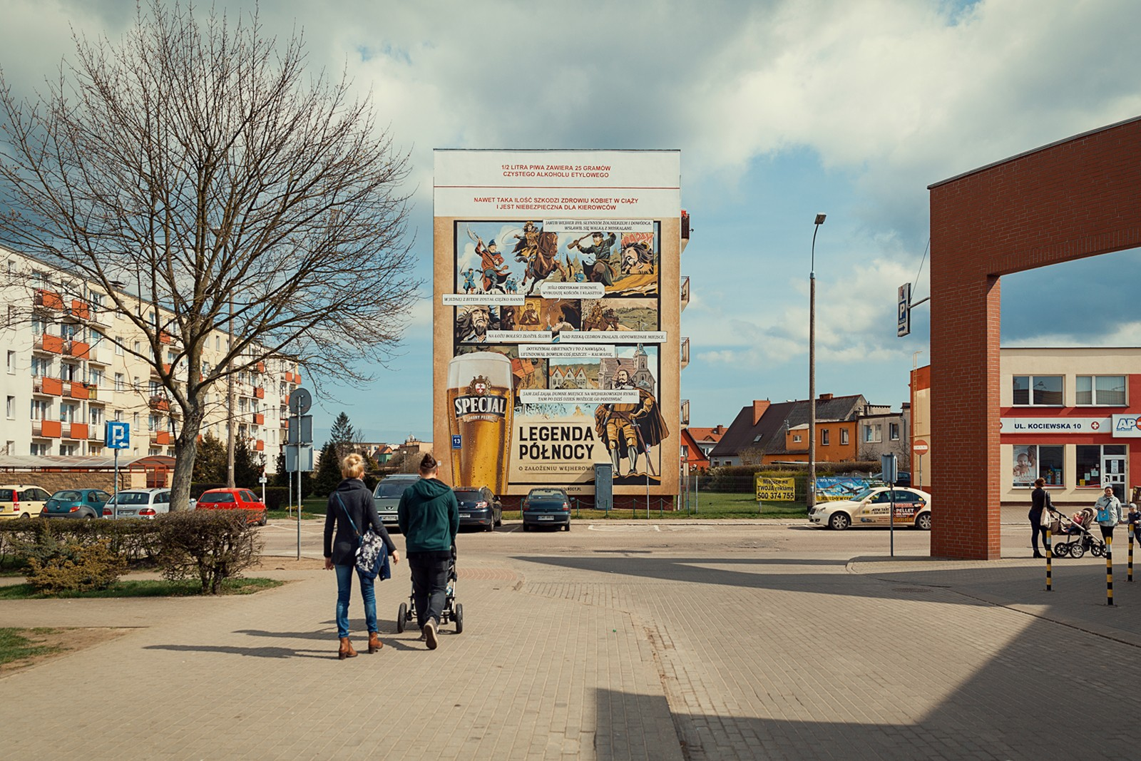Mural in Wejherowo in a Northern Legends advertising campaign for Specjal beer brand | Specjal - Legenda Północy | Portfolio