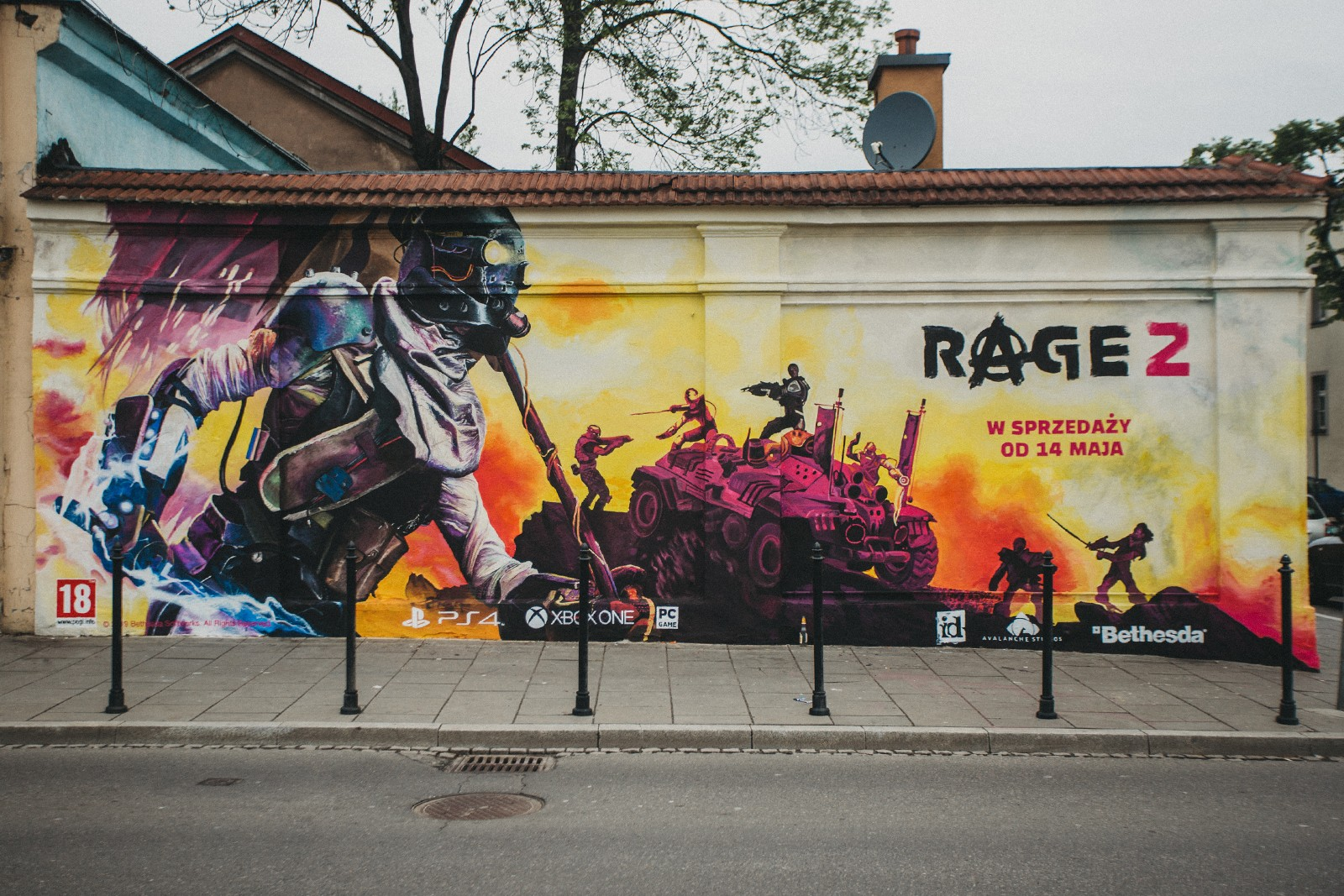 Mural of game Rage 2nd in Krakow at the 21 Gazowa street | Rage 2 | Portfolio