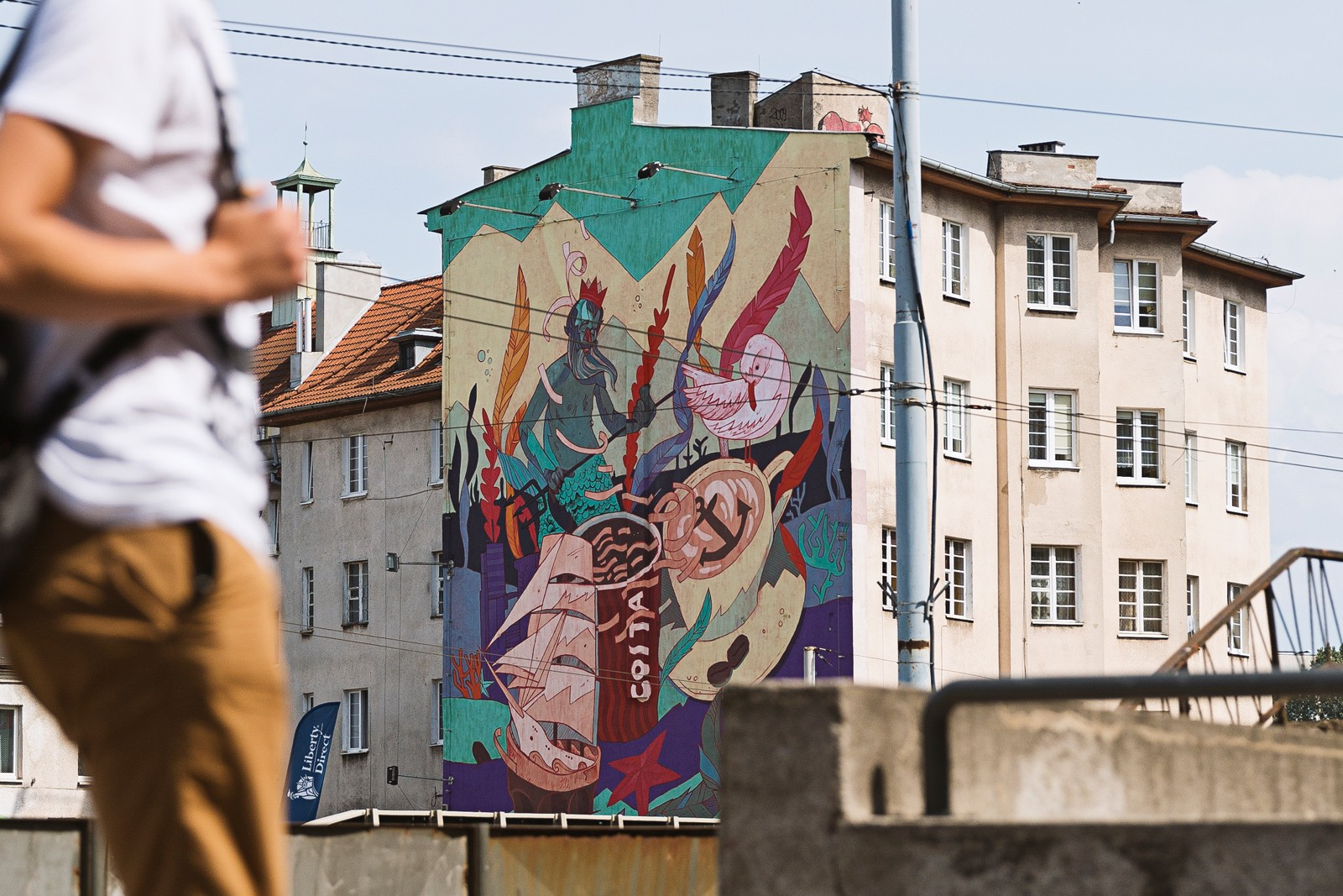 A Patryk Hardziej mural project resembling the Tricity area on Morska street in Gdynia | Costa Coffee's 1st Birthday | Portfolio