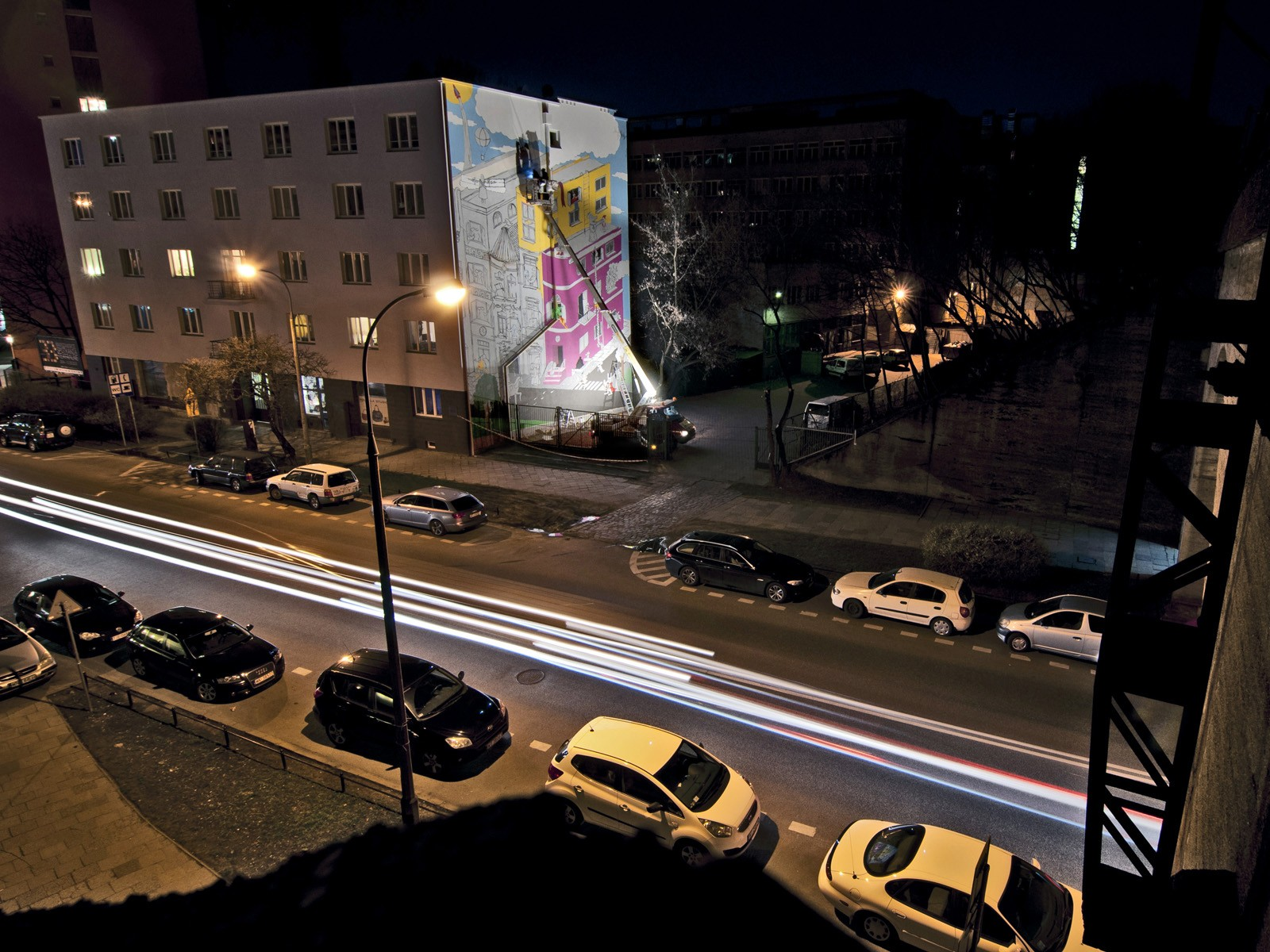 Empik advertising mural It's about reading - Warsaw Powisle Solec 85 street | World Book Day | Portfolio