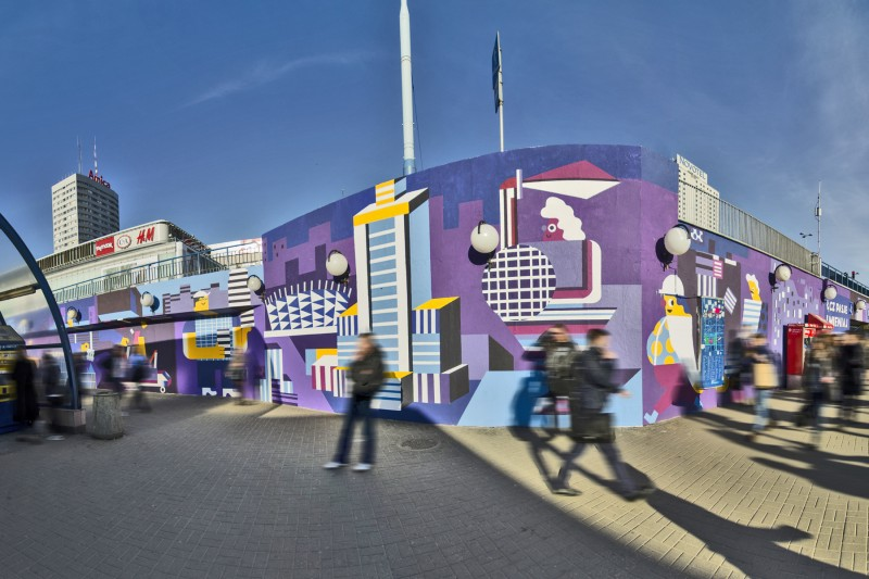 Advertising mural for Samsung Galaxy A near Centrum subway station in Capital City of Poland | Link passions and change the city | Portfolio