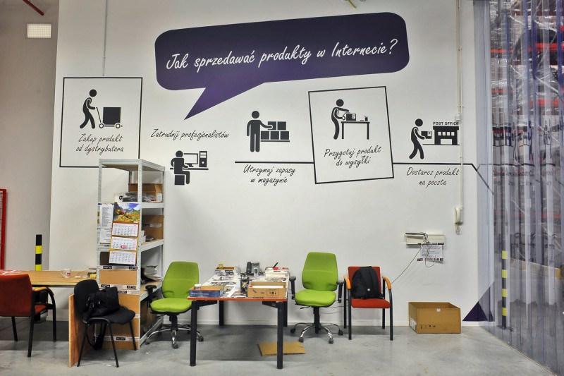 Mural in Play warehouse in Warsaw | Warehouse interior | Portfolio