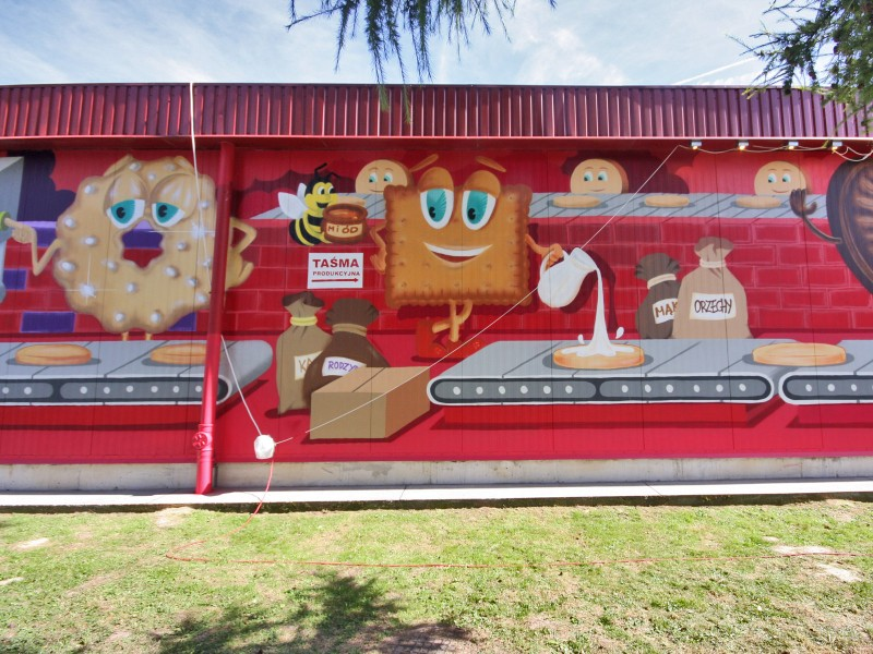 Mural with cookies - The Cookie Factory Mondelez - Jaroslaw | The Cookie Factory | Portfolio