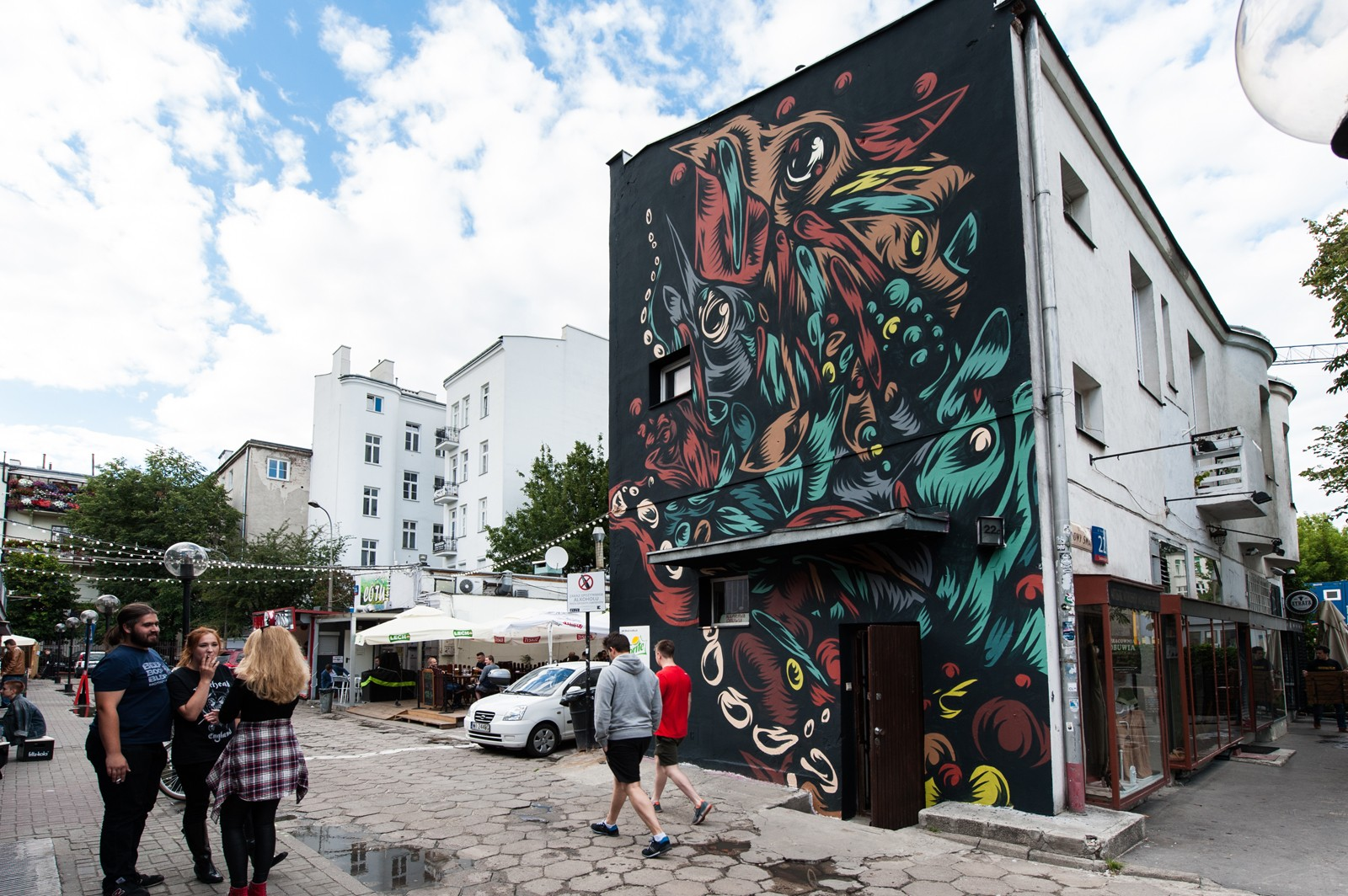 Murals by Swanski at Warsaw's pavilions for Sprite on 22 Nowy Swiat Street | #RFRSH_CITY | Portfolio