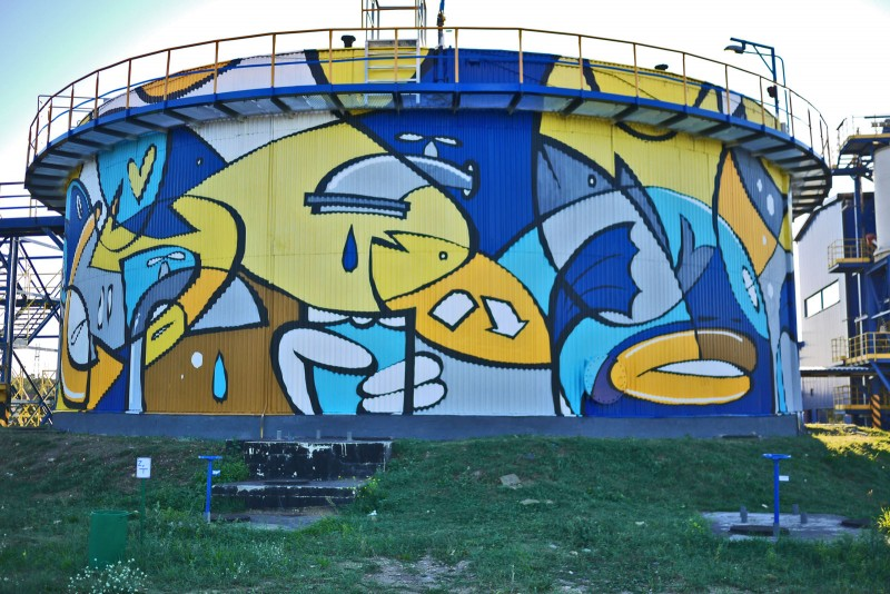 Treatment Plant Warta in Czestochowa mural | Treatment Plant | Portfolio