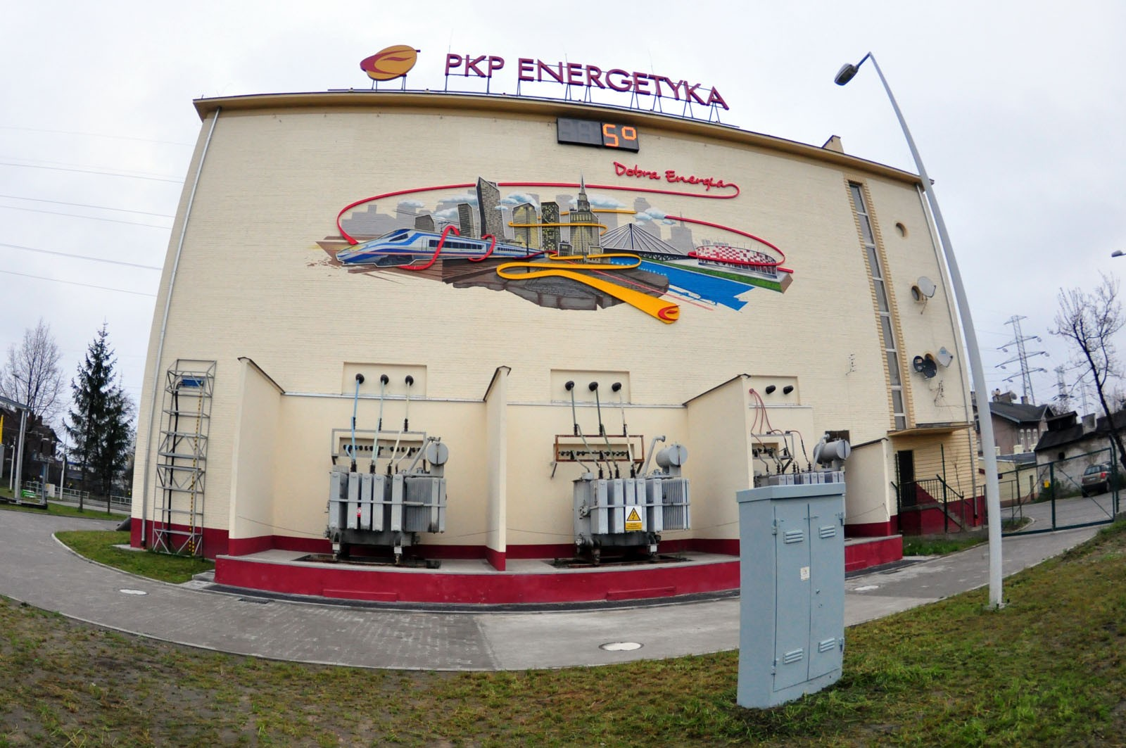 PKP Energetyka S.A. Good Energy mural in Warsaw | Good energy | Portfolio