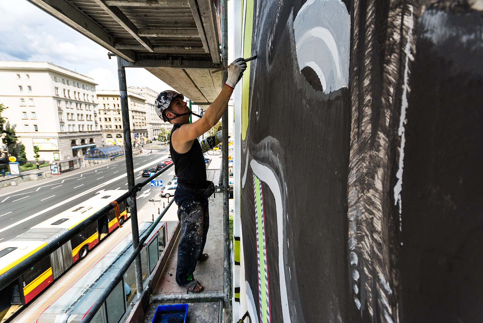Painters paint the hand-painted outdoor advertising for the Adidas Ozweego | Adidas Ozweego | Portfolio