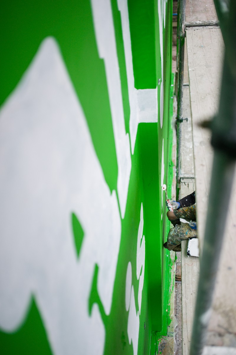 Painting a Ben&Jerry's ice cream brand mural on Jaworzynska street in Warsaw | Ben & Jerry's | Portfolio