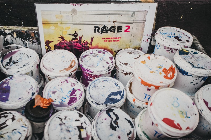 Painting advertisement game Rage 2nd on the building on the Gazowa 21 street in Krakow | Rage 2 | Portfolio