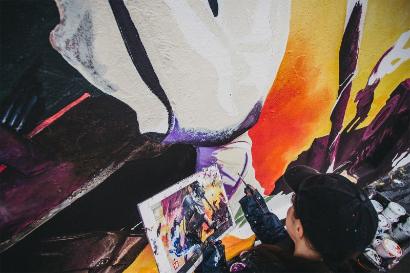 Painting advertising mural Rage 2nd for Cenega brand in Krakow | Rage 2 | Portfolio