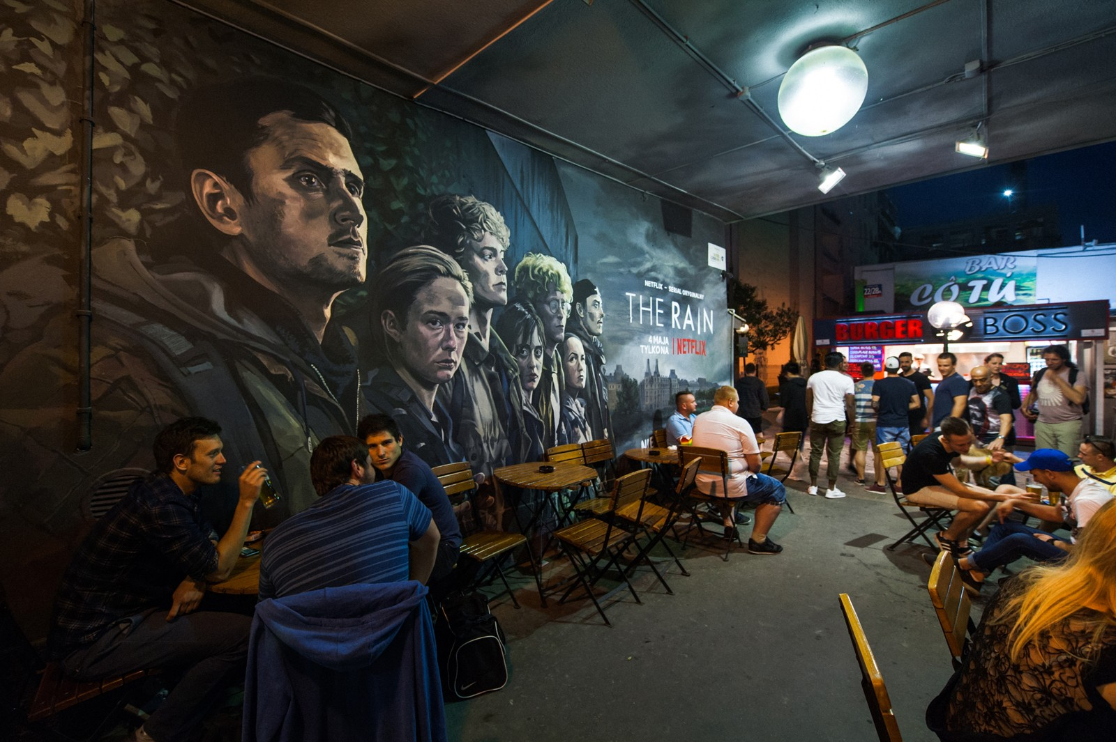 Passage on Pavilions with a wall painting commissioned by Netflix | The Rain  | Portfolio