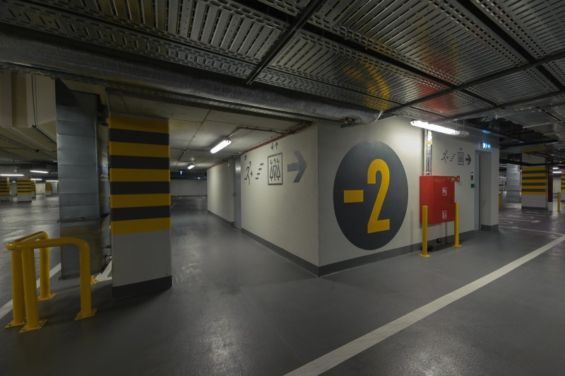 An underground garage in Proximo office building in Warsaw Wola district | PROXIMO | Portfolio