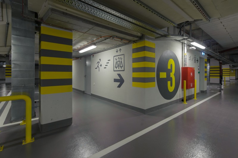 An underground parking garage in Warsaw's Proximo building  | PROXIMO | Portfolio