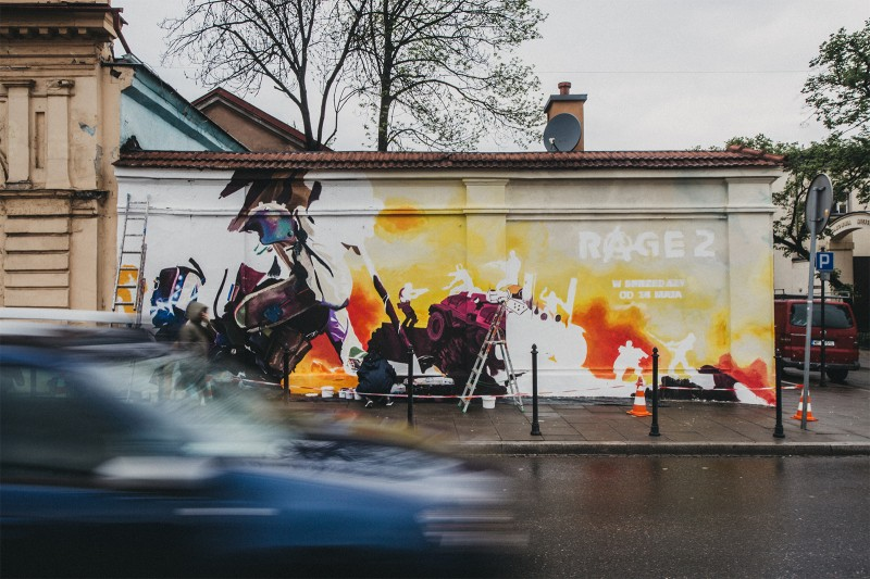 Realization of the mural at 21 Gazowa Street in Krakow | Rage 2 | Portfolio