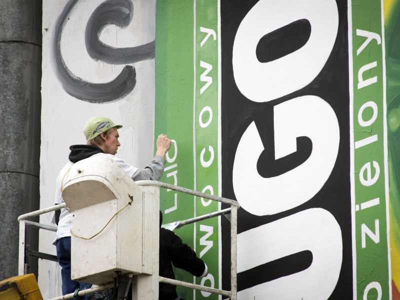 Handpainting Frugo advertisement - Cracow Karmelicka street | Fruit of culture | Portfolio