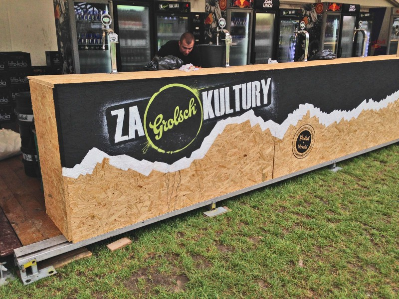 Handpainted containers to OFF Festival - Za Grolsch kultury - Katowice  | Za Grolsch Kultury | Portfolio