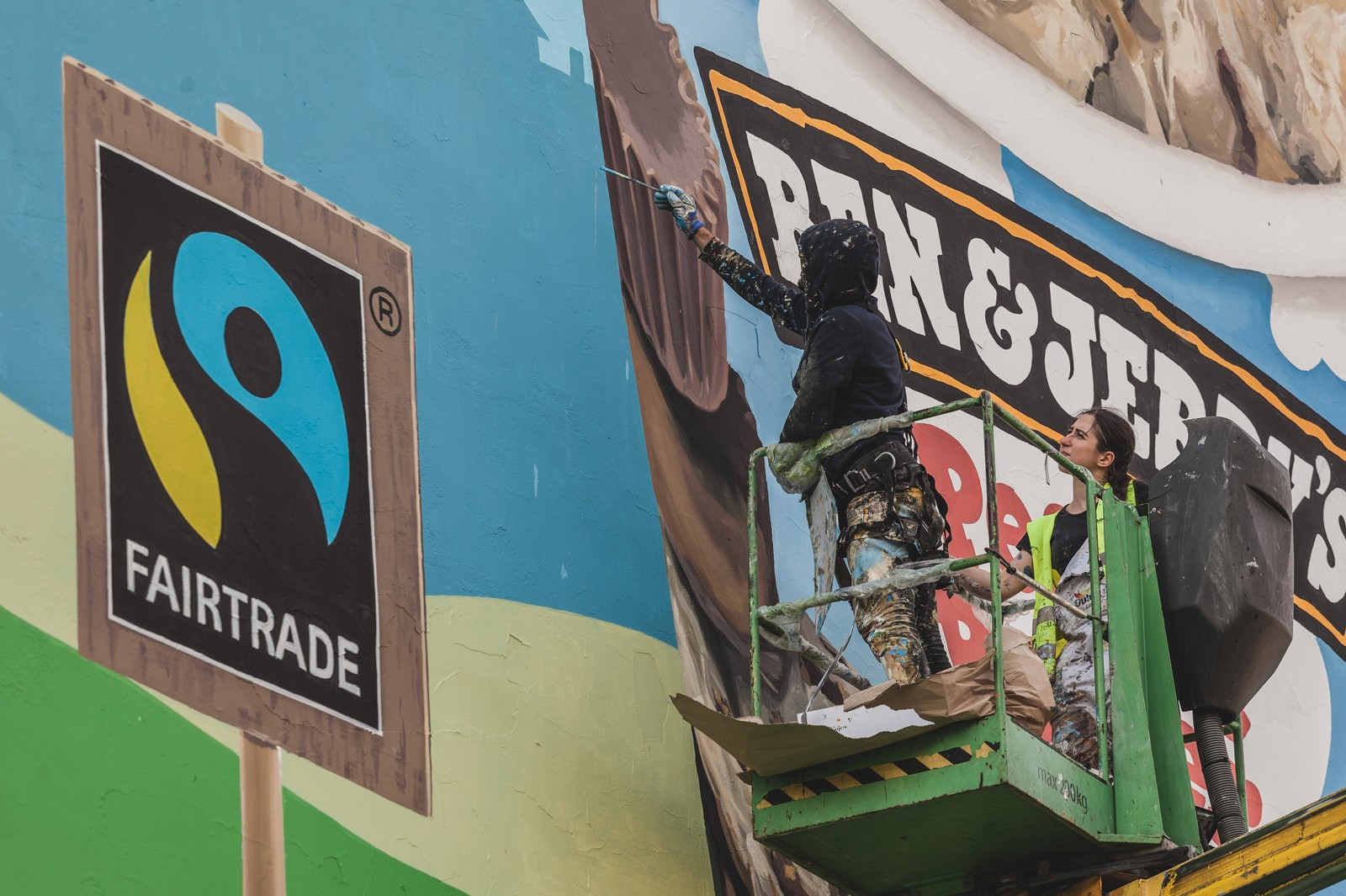 Ben&Jerry's outdoor advertisement in the form of a mural Cracow | Ben & Jerry's | Portfolio